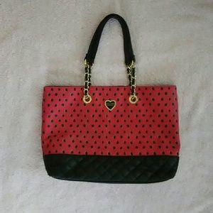 💕EUC Betsey Johnson large tote bag